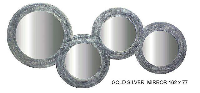 Καθρέφτης Gallerista by Repanis Gold Silver-Gold Silver