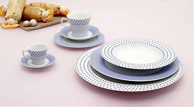 Σερβίτσιο πιάτων-φαγητού Cryspo Trio Matrix-Blue