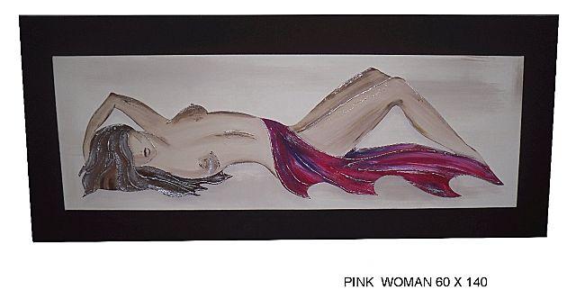 Πίνακας ζωγραφικής Gallerista by Repanis Woman-Pink Woman