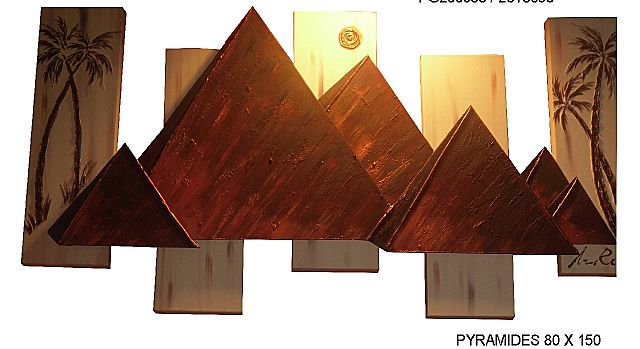 Πίνακας ζωγραφικής Gallerista by Repanis Pyramides-Pyramides