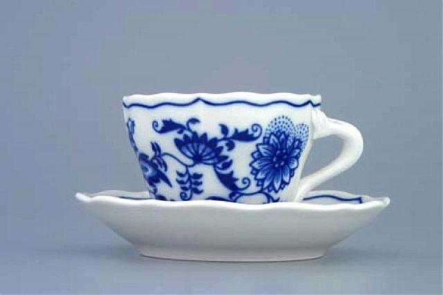 Σερβίτσιo Τσαγιού-Καφέ Zweibel Muster Blue Onion-Φλυτζανάκι Καφέ με πιατάκι