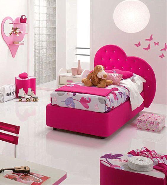 Παιδικό κρεβάτι επενδυμένο Spar Arreda Web-Letto contenitore impottito Cuore con swarowski