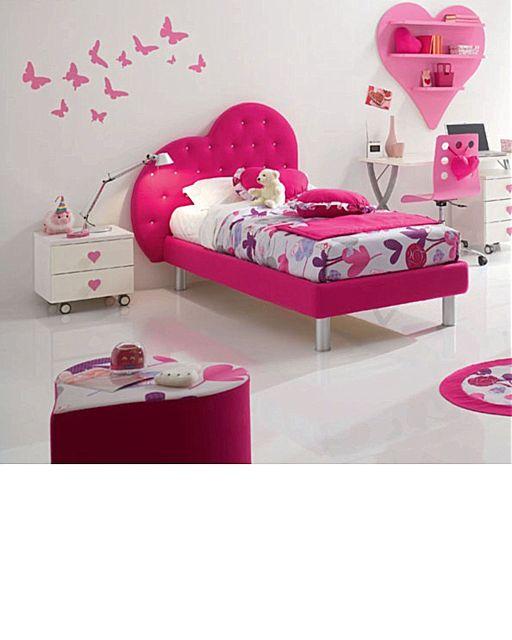 Παιδικό κρεβάτι επενδυμένο Spar Arreda Web-Giroletto impottito Cuore con swarowski con piedi conici