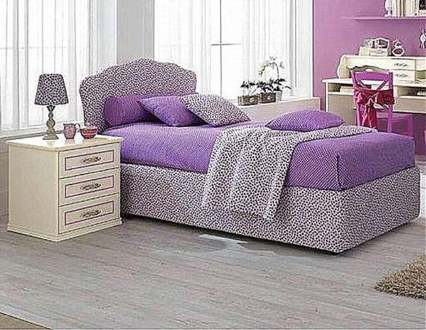 Παιδικό κρεβάτι επενδυμένο Spar Arreda Romantica-Letto Agile contenitore