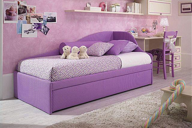 Παιδικό κρεβάτι επενδυμένο Spar Arreda Romantica-Divano Dx Tessile 2o Rete