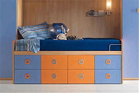 Παιδικό κρεβάτι καναπές  Spar Arreda Web-Floppy Divano 8 cassetti