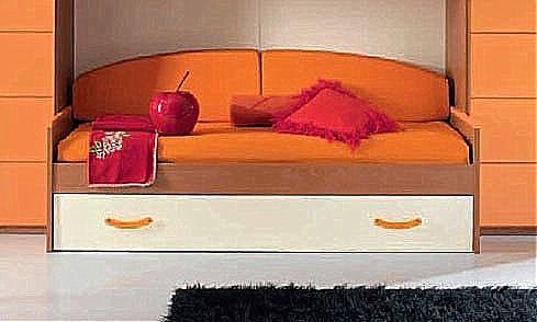 Παιδικό κρεβάτι καναπές  Spar Arreda Web-Floppy Divano con cassettone