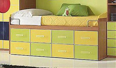 Παιδικό κρεβάτι καναπές  Spar Arreda Evolution-Divano 8 Cass Ruote SURF 2 Colori