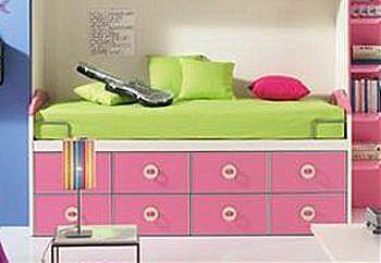 Παιδικό κρεβάτι καναπές  Spar Arreda Evolution-Surf Divano 8 Cassetti