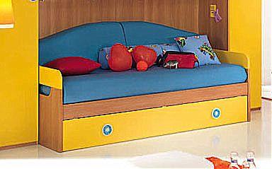 Παιδικό κρεβάτι καναπές  Spar Arreda One-Space Divano con 2o Rete ciliegio