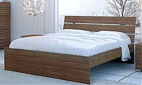 Κρεβάτι ξύλινο Oikia kantis Nota-Νο Γ54 Καρυδιά