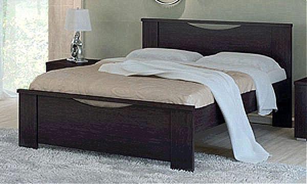 Κρεβάτι ξύλινο Oikia kantis Smile-Νο 17 Wenge
