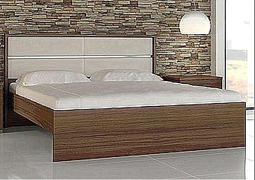 Κρεβάτι ξύλινο Oikia kantis Dream-Νο Γ50 Καρυδιά