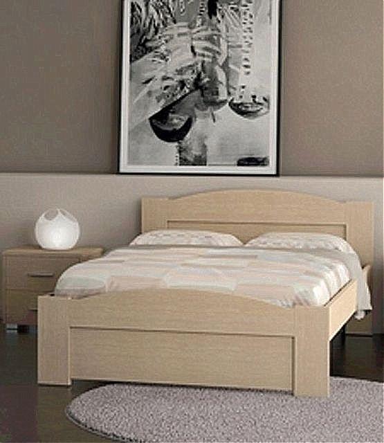 Κρεβάτι ξύλινο Oikia kantis Wave-No 49 δρυς