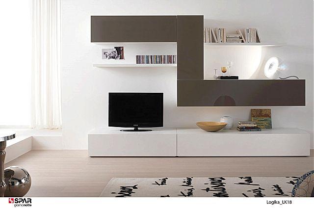 Συνθέση τοίχου σαλονιού Spar Arreda Logika-Proposta LK18