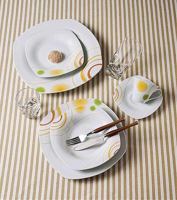 Σερβίτσιο πιάτων-φαγητού Cryspo Trio Roxana-Roxana