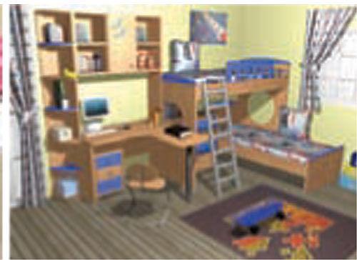 Παιδικό-Εφηβικό δωμάτιο Oikia kantis Κωδικός 9-Κωδικός 9
