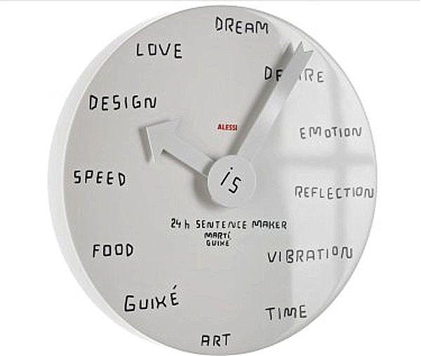 Ρολόι τοίχου Alessi maker Sentence-MGU02 2