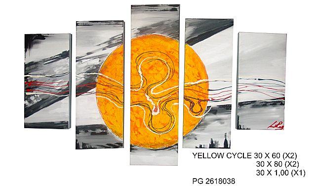 Πίνακας ζωγραφικής Gallerista by Repanis Yellow Cyrcle-Yellow Cyrcle