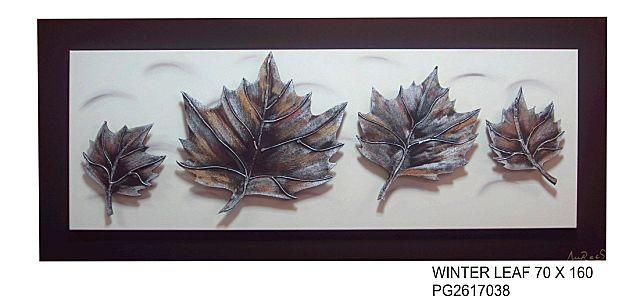 Πίνακας ζωγραφικής Gallerista by Repanis Winter Leaf-Winter Leaf