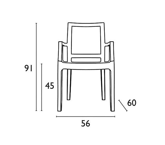 Καρέκλα κήπου Oikia kantis Arthur-Arthur