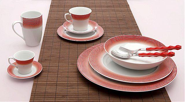 Σερβίτσιο πιάτων-φαγητού Cryspo Trio Bonito-Bonito Red