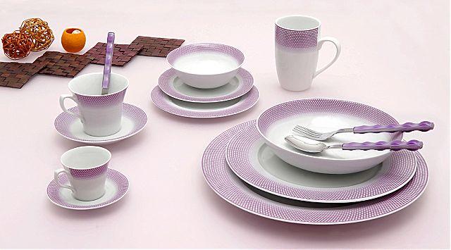 Σερβίτσιο πιάτων-φαγητού Cryspo Trio Bonito-Bonito Purple