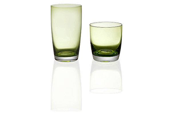 Σερβίτσιο ποτηριών Cryspo Trio Iris-Green