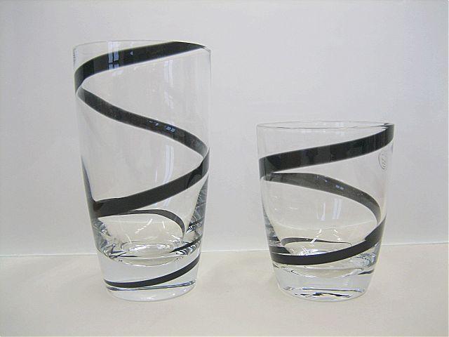 Σερβίτσιο ποτηριών Cryspo Trio Spiral-Black