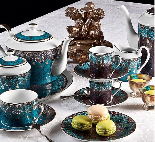 Σερβίτσιο πιάτων-φαγητού Phillipe Deshoulieres Dhara Bleu-Dhara Bleu
