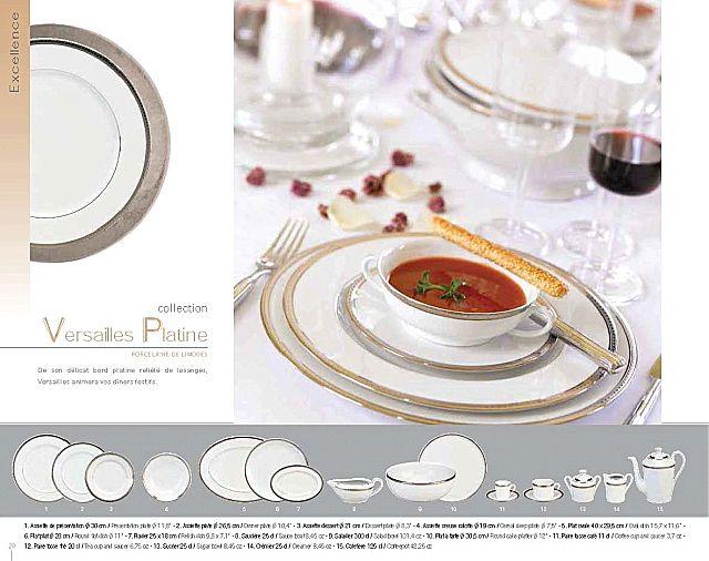 Σερβίτσιο πιάτων-φαγητού Phillipe Deshoulieres Versailes Platine-Versailes Platine