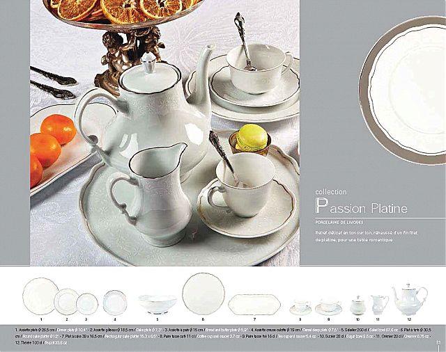 Σερβίτσιο πιάτων-φαγητού Deshoulieres Passion Platine-Passion Platine