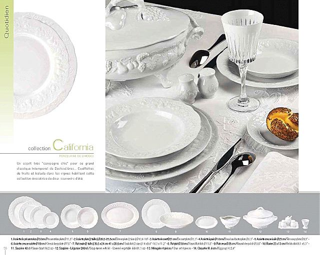 Σερβίτσιο πιάτων-φαγητού Phillipe Deshoulieres California-California