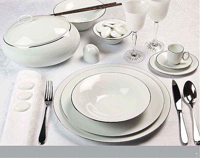Σερβίτσιο πιάτων-φαγητού Phillipe Deshoulieres Epure Platine-Epure Platine