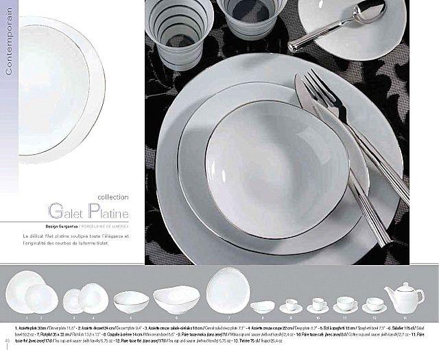 Σερβίτσιο πιάτων-φαγητού Phillipe Deshoulieres Galet Platine-Galet Platine