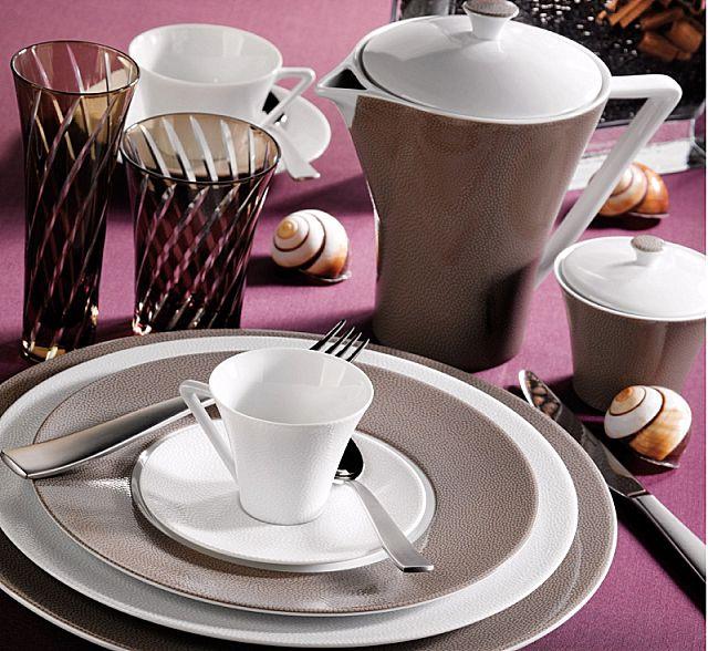 Σερβίτσιο πιάτων-φαγητού Phillipe Deshoulieres Seychelles Taupe-Seychelles Taupe