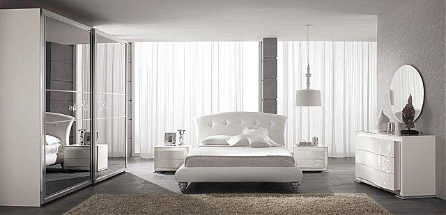 Κρεβάτι επενδυμένο Spar Arreda Prestige notte-Luna swarovski
