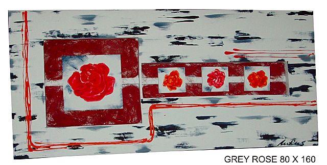 Πίνακας ζωγραφικής Gallerista by Repanis Grey Rose-Grey Rose