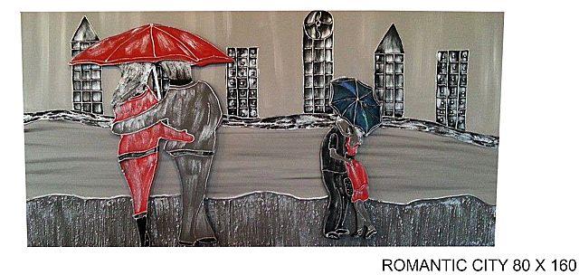 Πίνακας ζωγραφικής Gallerista by Repanis Romandic city-Romandic city