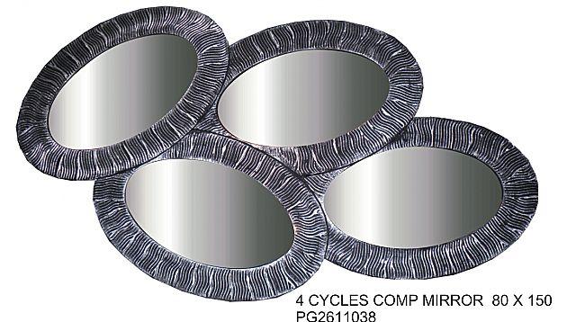 Καθρέφτης Gallerista by Repanis 4 cyrcles Comp-4 Cyrcles Comp