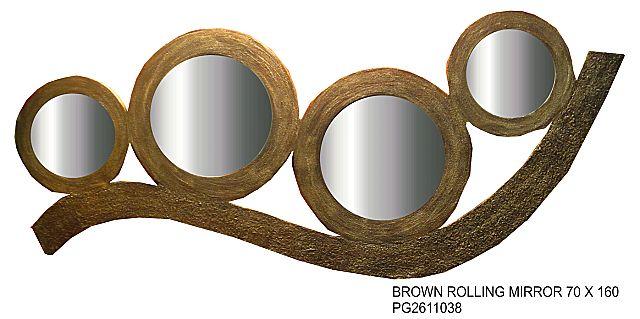 Καθρέφτης Gallerista by Repanis Brown-Brown Rolling Mirror