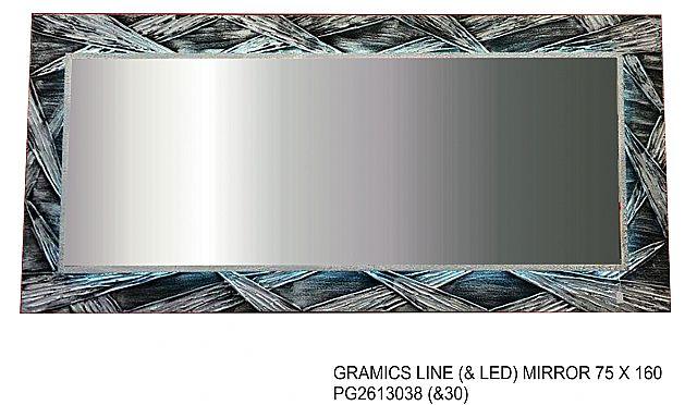 Καθρέφτης Gallerista by Repanis Gramics Line & Led-Gramics Line & Led