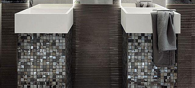 Ψηφίδα μπάνιου Fap Ceramiche Evoque-Evoque acciaio mosaico