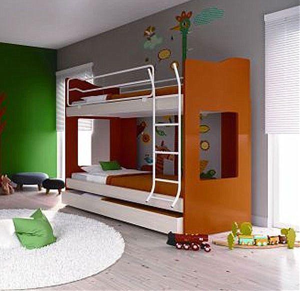 Παιδικό-Εφηβικό δωμάτιο alfaset Κουκέτα Tetra -Κουκέτα Tetra 2