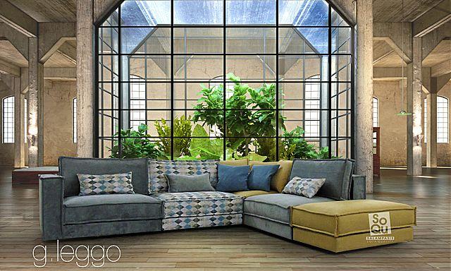 Καναπές γωνιακός Sofa And Style Leggo-Leggo