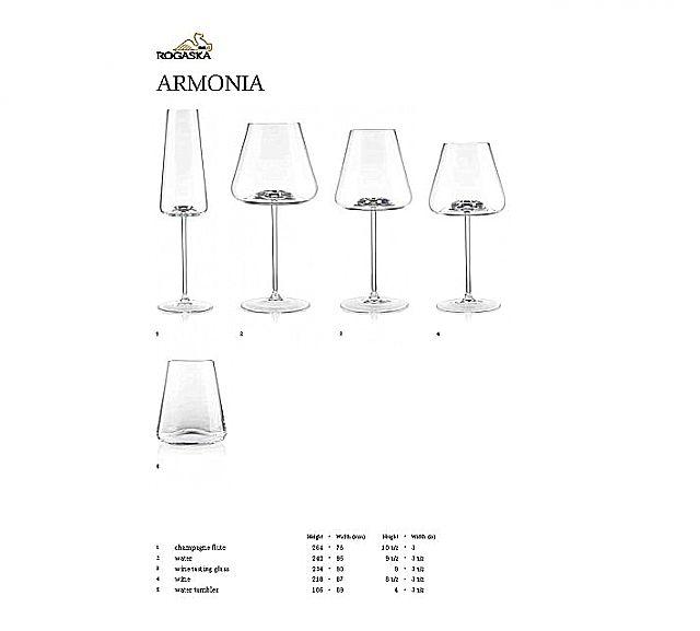 Σερβίτσιο ποτηριών Rogaska Armonia-Armonia