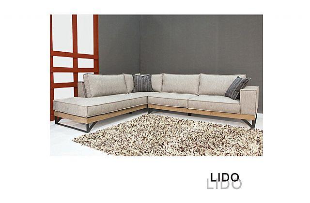 Καναπές γωνιακός Sofa And Style Lido-Lido