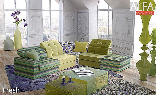 Καναπές γωνιακός Sofa And Style Fresh-Fresh