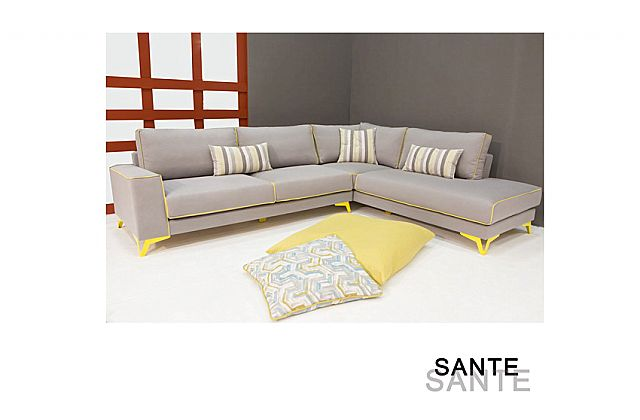 Καναπές γωνιακός Sofa And Style Sante-Sante