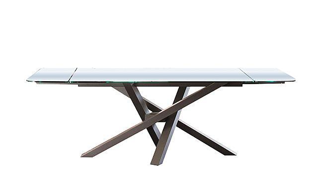 Τραπέζι τραπεζαρίας Riflessi Shangai-Shangai Big Extendable Glass Top